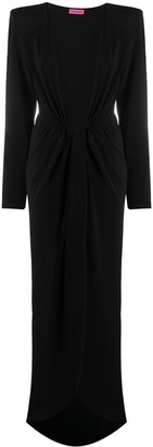 GAUGE81 Plunge Dress With Structured Shoulders