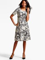 Talbots Painted Arbor Flowers Flannel Dress