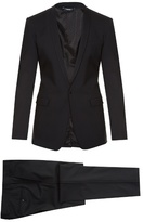 Dolce & Gabbana Gold-fit Embroidered Stretch-wool Suit