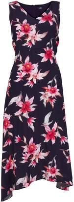 Wallis **TALL Navy Floral Print Midi Dress