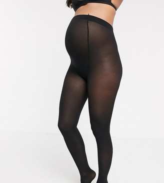 Lindex 40 Denier recycled maternity tights in black