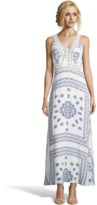 Romeo & Juliet Couture Blue And White Print Maxi Dress.