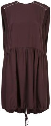 Tibi D-ring cape dress