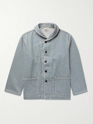 Chimala Shawl-Collar Striped Denim Jacket - Men - Blue