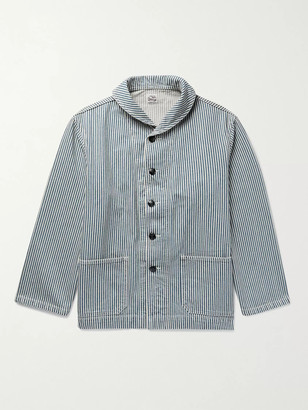 Chimala Shawl-Collar Striped Denim Jacket