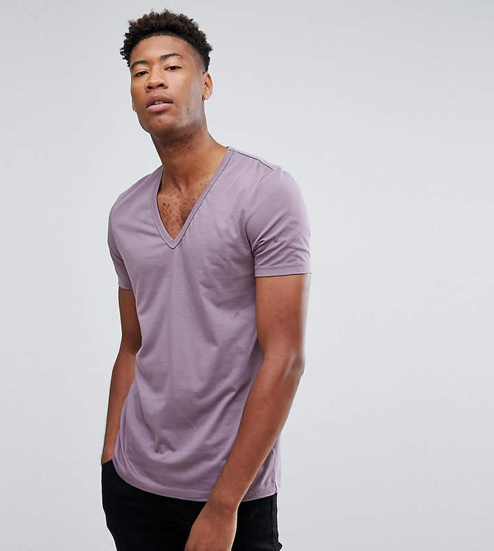 Asos Design DESIGN Tall t-shirt with deep v