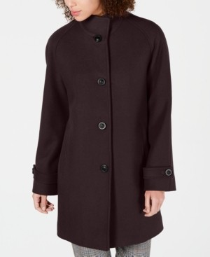 Jones New York Petite Single-Breasted Walker Coat