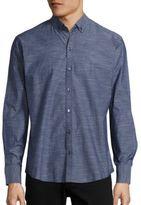 Zachary Prell Long Sleeve Denim Shirt