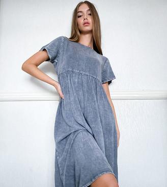 Wednesday's Girl midi smock dress in denim