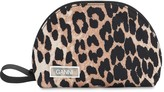 Ganni Small Leopard Printed Nylon Makeup Bag