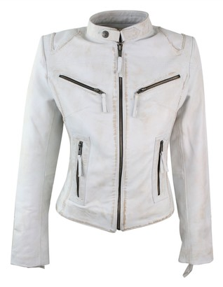 Aviatrix 100% Ladies Real Leather Jacket Fitted Bikers Style Vintage Black Rock