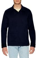 Gant Satin Twill Asymmetrical Zip Sportshirt
