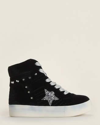Nina Toddler Girls) Black Ima Studded Velvet High-Top Sneakers