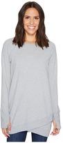 Mod-o-doc Soft As Cashmere Cotton Interlock Crossover Front Raglan Tunic Women's Clothing