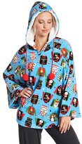 Paul Frank Ugly Sweater Printed Plush Poncho