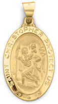 JCPenney FINE JEWELRY 14K Gold St. Christopher Medallion
