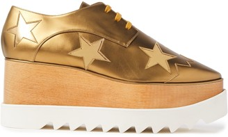 Stella McCartney Metallic Faux Suede Platform Brogues