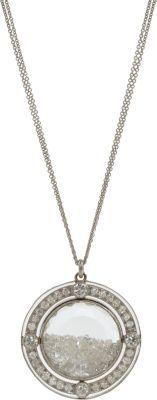Renee Lewis Diamond-Rimmed Shake Pendant Necklace