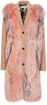 Emilio Pucci Raccoon Fur Embellished Wool Coat