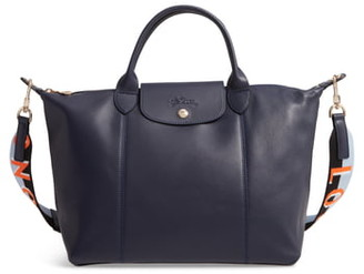 Longchamp Le Pliage Cuir Lambskin Leather Tote
