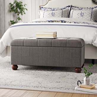 "Birch Laneâ""¢ Heritage Oakbrook Upholstered Flip Top Storage Bench Birch Lanea Heritage Upholstery: Gray"