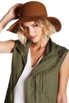 Phenix Round Crown Floppy Wool & Genuine Leather Hat