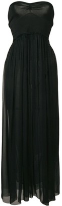 Forte Forte Black Strapless Dress