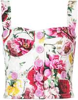 Dolce & Gabbana bustier floral top