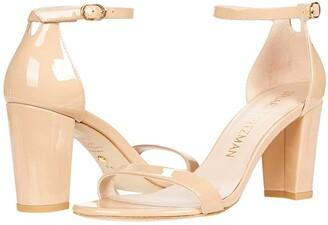 Stuart Weitzman Nearlynude Ankle Strap City Sandal (Adobe) Women's Shoes