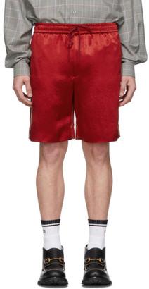 Gucci Red Chain Silk Shorts