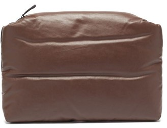 Kassl Editions Oil Bi-colour Padded Canvas Pouch - Black Brown