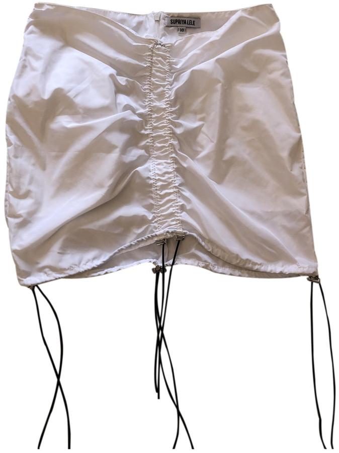 Thumbnail for your product : Supriya Lele White Polyester Skirts