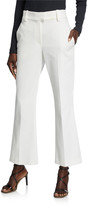Brunello Cucinelli Cropped Cotton Kick-Flare Pants