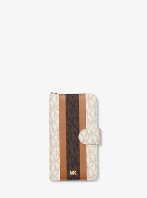 MICHAEL Michael Kors Logo Stripe Wristlet Folio Case For iPhone X/XS