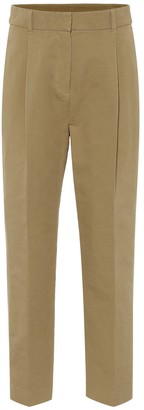 See by Chloe High-rise cotton straight pants