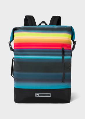 Paul Smith Men's 'Horizon' Stripe Zip Top Backpack