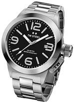 TW Steel 'Canteen' Quartz Stainless Watch, Color:Silver-Toned (Model: CB401)