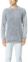 Scotch & Soda Indigo Raw Edge Crew Neck Pullover