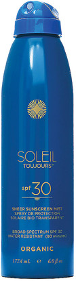 Soleil Toujours Organic Sheer Sunscreen Mist SPF 30 in | FWRD