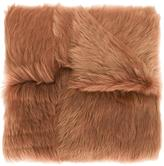 Rochas long haired lamb shearling shawl