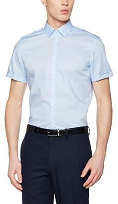 Seidensticker Men's Dress Shirt Formal Shirt Business Shirt Slim Fit Short Sleeve Collar Kent Non-Iron