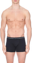 Zegna Branded stretch-cotton trunks pack of two