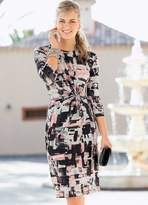 Together Abstract Knot Jersey Dress