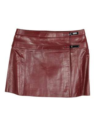 Belstaff Red Leather Skirts