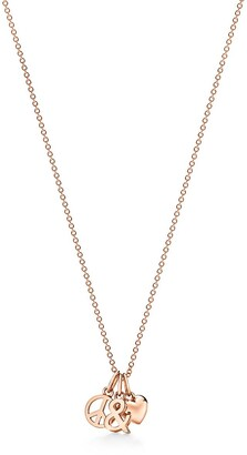 Tiffany & Co. & Love peace and love pendant in 18k rose gold