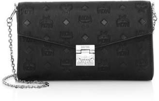 MCM Medium Millie Monogram Leather Crossbody Bag