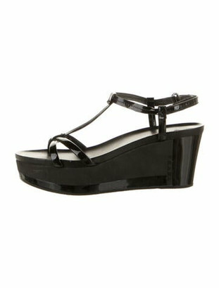 Prada Vintage Leather T-Strap Sandals Black