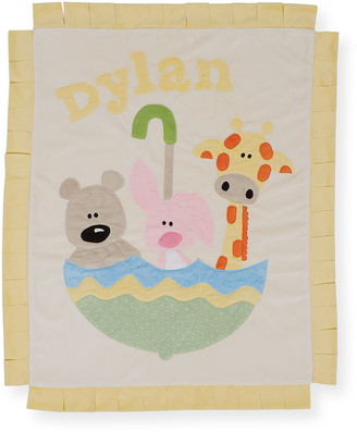 Boogie Baby Personalized Rainy Day Plush Lovey Blanket