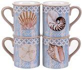 Certified International Spa Shells 4-pc. Coffee Mug Set
