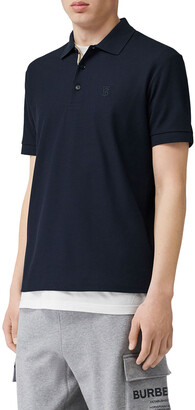 Burberry Men's Eddie Pique Polo Shirt, Navy